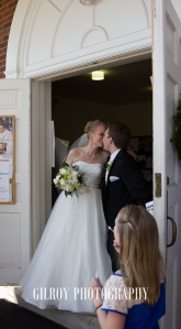 Catholic Ceremony and the kiss at the Church doors