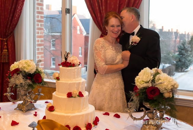 The topper on the Heidelberg Pastry Cake was Chris's parents at their wedding!